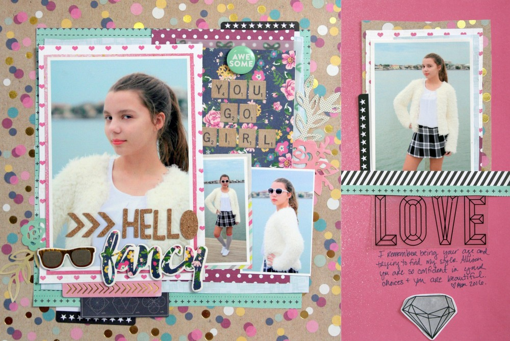 How to Use Scale and Density Differences to Mix Patterned Paper on the Scrapbook Page | Katie Scott | Get It Scrapped