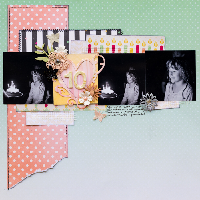 Scrapbook Page Sketch and Layered Template #108 | Kristy T| Get It Scrapped