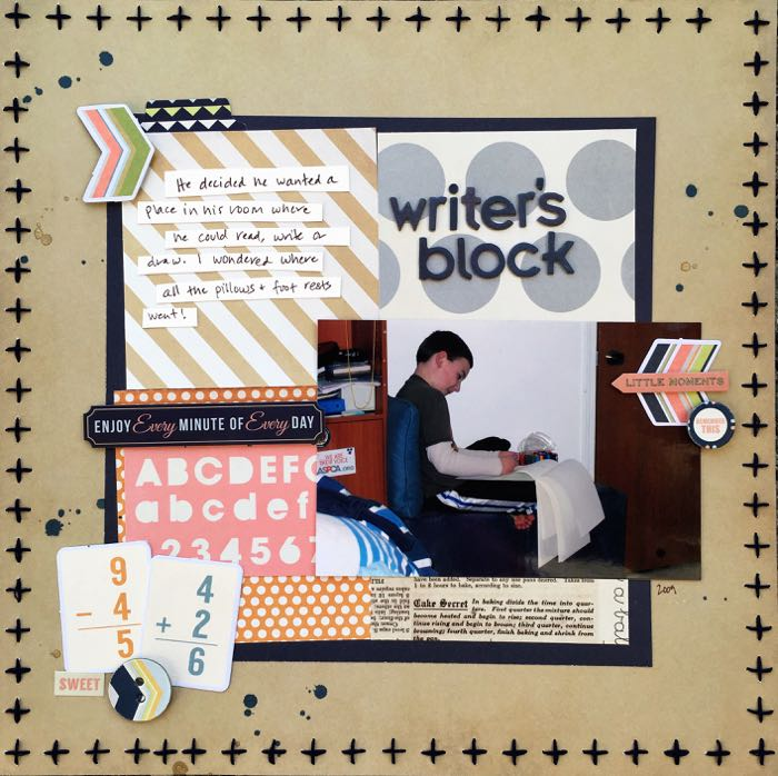 Scrapbook Page Sketch and Layered Template #109 | Devra Hunt | Get It Scrapped