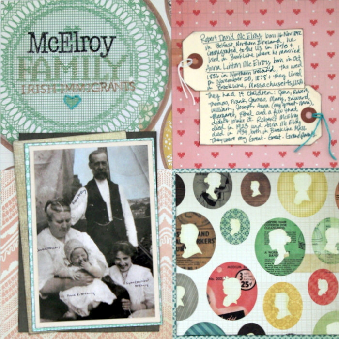 Scrapbook Page Sketch and Layered Template #109 | Katie Scott | Get It Scrapped
