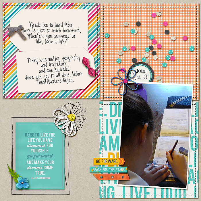 Scrapbook Page Sketch and Layered Template #109 | Stefanie Semple| Get It Scrapped