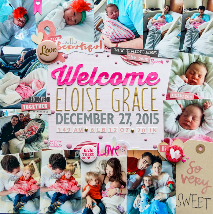 Scrapbook Page Designs Inspired by Trendy Website Headers |Marcia Fortunato| Get It Scrapped