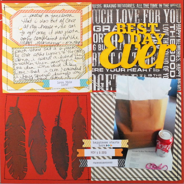 Scrapbook Page Sketch and Layered Template #109 | Tami Taylor | Get It Scrapped