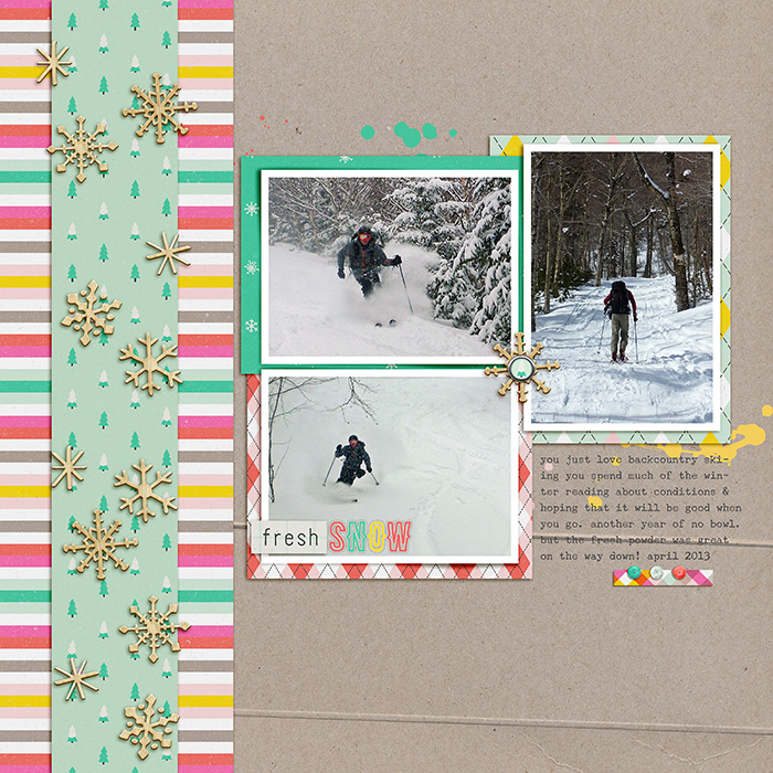 Scrapbook Page Sketch and Layered Template #110 | Celeste Smith | Get It Scrapped
