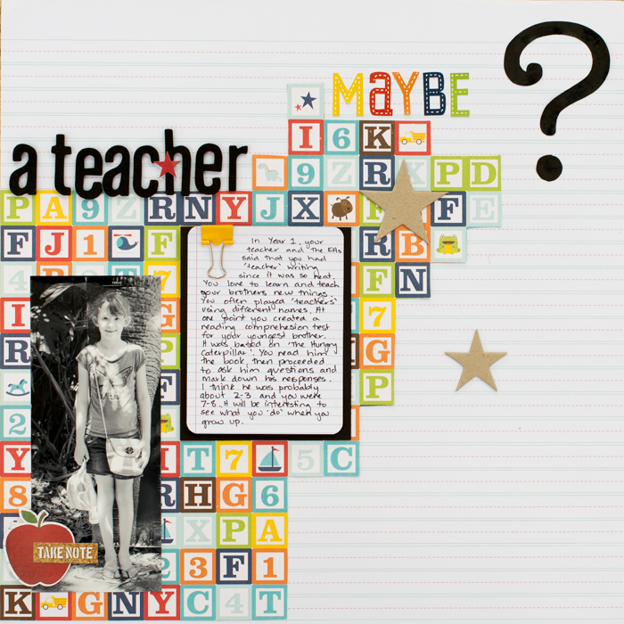 Scrapbook Page Storytelling: Start a Ticking Clock | Kristy T | Get It Scrapped