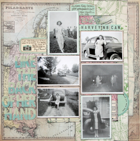Ideas for Scrapbook Page Storytelling with Maps | Katie Scott | Get It Scrapped