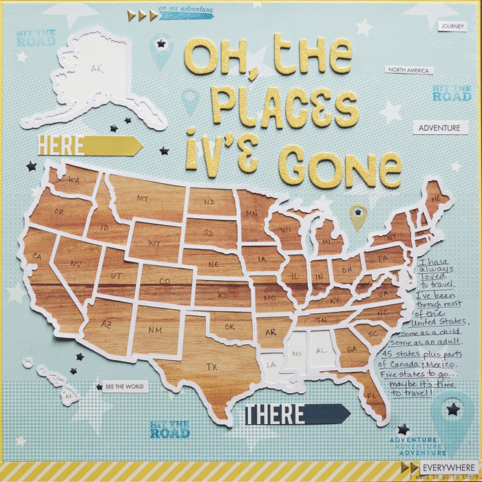 Ideas for Scrapbook Page Storytelling with Maps | Marcia Fortunato | Get It Scrapped