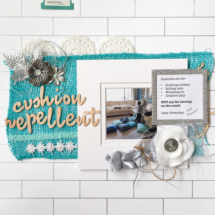 Mix Textures on Your Scrapbook Page Using Inspiration from Home Interiors | Kristy T | Get It Scrapped