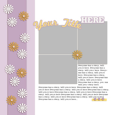Scrapbook Page Sketch and Layered Template #110 | Get It Scrapped