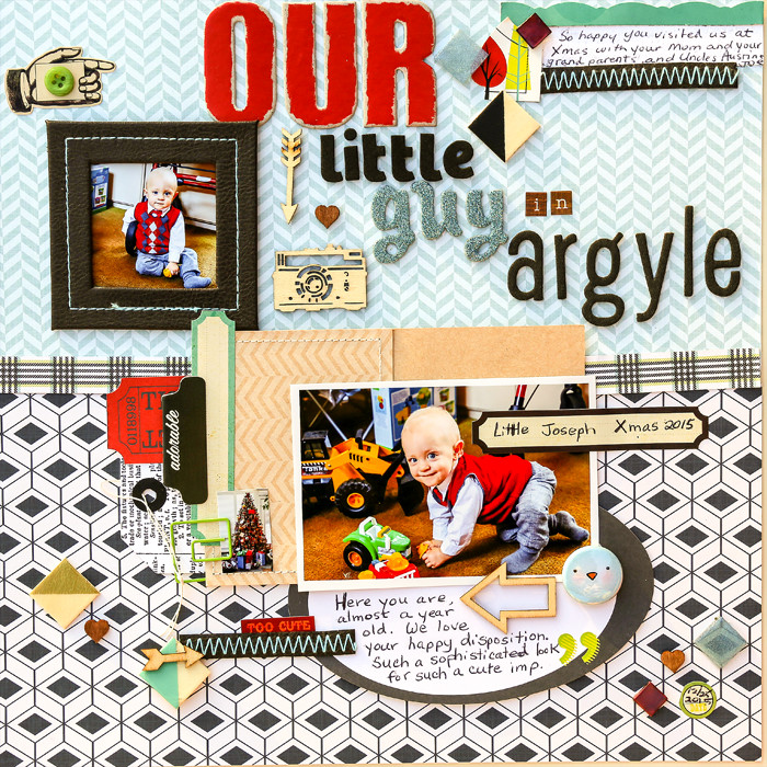 Scrapbook Page Sketch and Layered Template #111 | Karen Poirier-Brode |Get It Scrapped