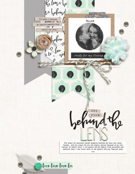 Mix Textures on Your Scrapbook Page Using Inspiration from Home Interiors | Amy Kingsford | Get It Scrapped