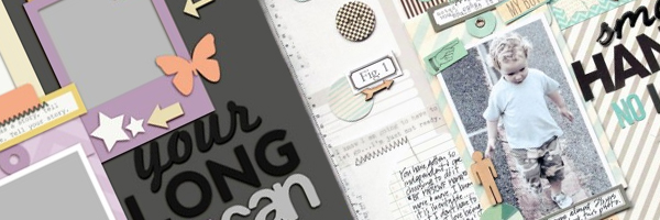 Scrapbook Page Sketch and Layered Template #111