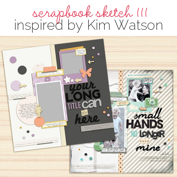 Scrapbook Page Sketch and Layered Template #111 | Get It Scrapped
