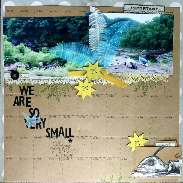Ideas for Playing with Human Scale on Your Scrapbook Pages | Doris Sander | Get It Scrapped