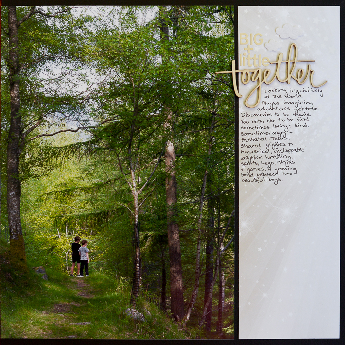 Ideas for Playing with Human Scale on Your Scrapbook Pages | KristyT | Get It Scrapped