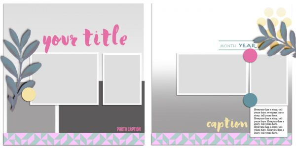 Scrapbook Page Sketch and Template #112 | Get It Scrapped