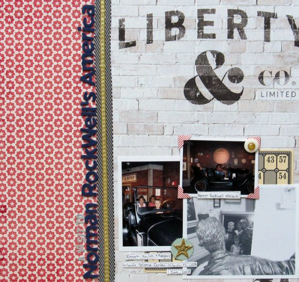 Ideas for Scrapbook Page Storytelling with an Americana Style | Christy Strickler | Get It Scrapped