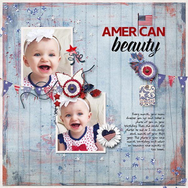 Ideas for Scrapbook Page Storytelling with an Americana Style | Deborah Wagner | Get It Scrapped
