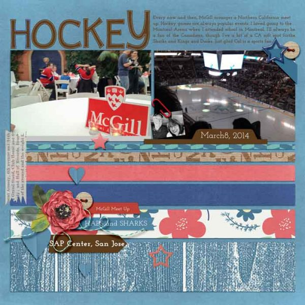 Ideas for Scrapbook Page Storytelling with an Americana Style | Karen Poirier-Brode | Get It Scrapped