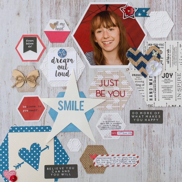 Ideas for Scrapbook Page Storytelling with an Americana Style | Kristy T | Get It Scrapped