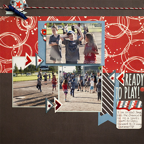Ideas for Scrapbook Page Storytelling with an Americana Style | Megan Blethen | Get It Scrapped