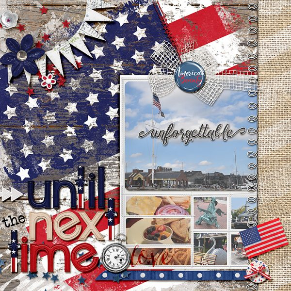 Ideas for Scrapbook Page Storytelling with an Americana Style | Stefanie Semple | Get It Scrapped