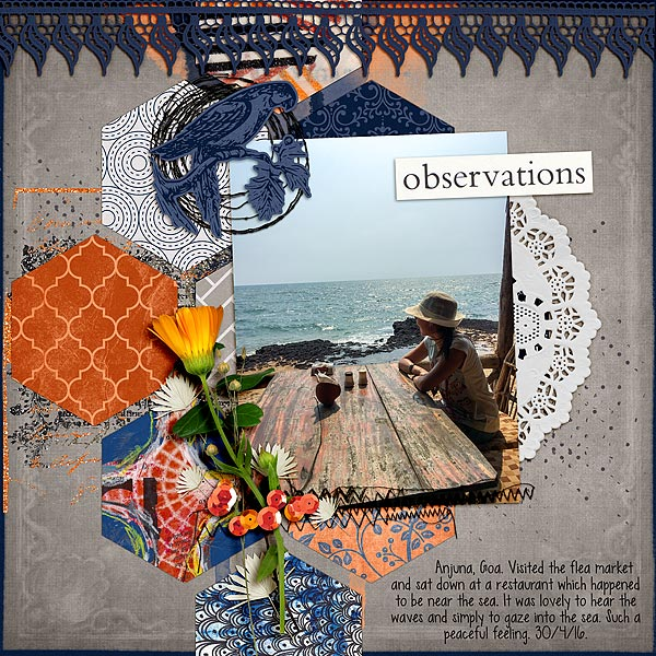 Scrapbook Ideas for Making Your Own Geometric Mashup Patterns | Audrey Tan | Get It Scrapped