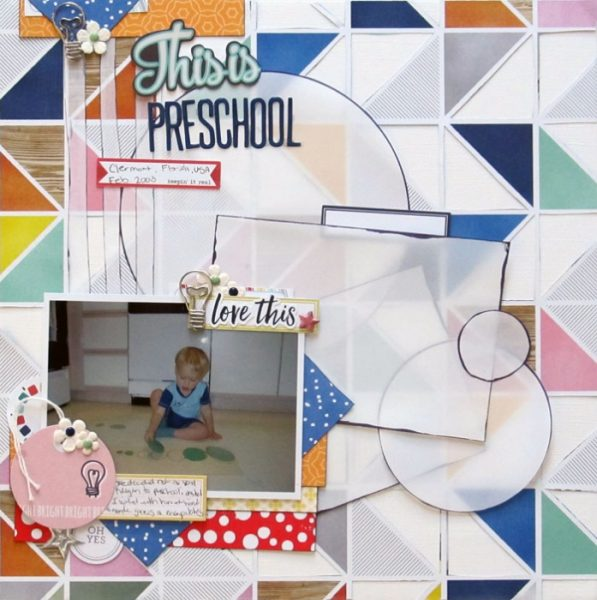 Scrapbook Ideas for Making Your Own Geometric Mashup Patterns | Christy Strickler | Get It Scrapped