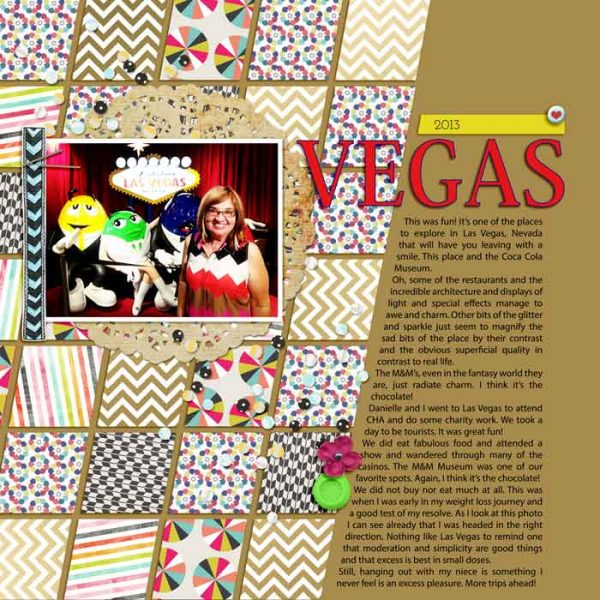 Scrapbook Ideas for Making Your Own Geometric Mashup Patterns | Karen Poirier-Brode | Get It Scrapped