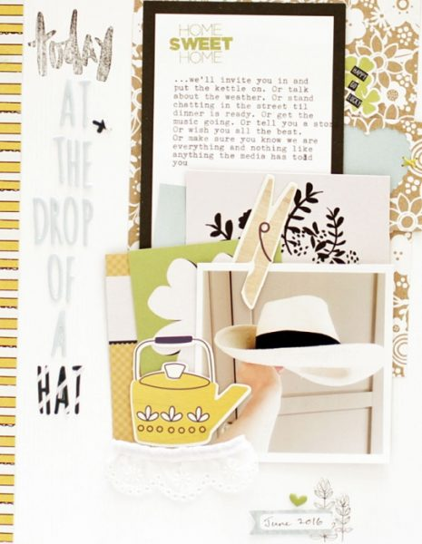 Start Your Scrapbook Page with a Metaphor | Sian Fair | Get It Scrapped
