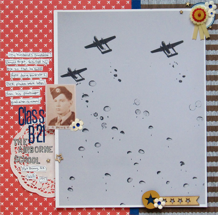 Scrapbook Ideas for Paying Tribute to Men and Women Who Serve | Christy Strickler | Get It Scrapped
