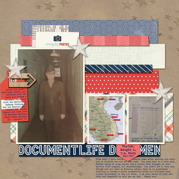 Scrapbook Ideas for Paying Tribute to Men and Women Who Serve | Kelly Prang | Get It Scrapped