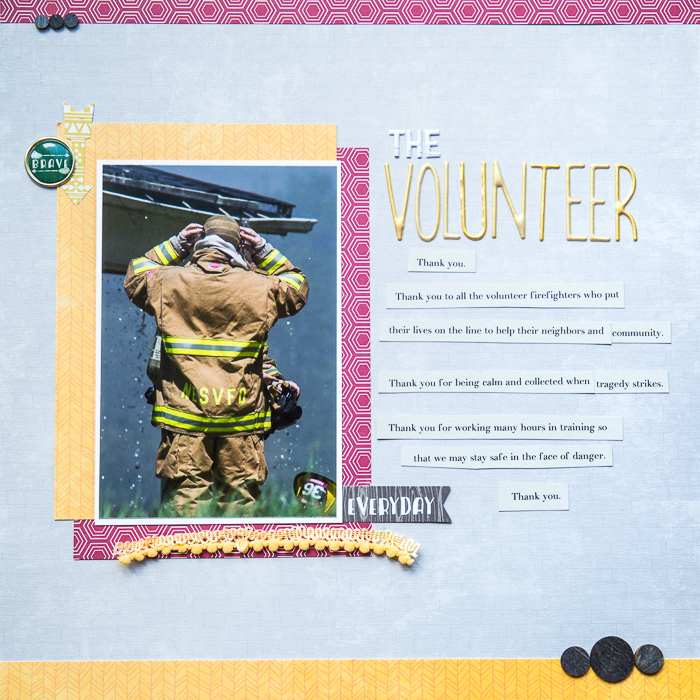 Scrapbook Ideas for Paying Tribute to Men and Women Who Serve | Kelly Sroka | Get It Scrapped
