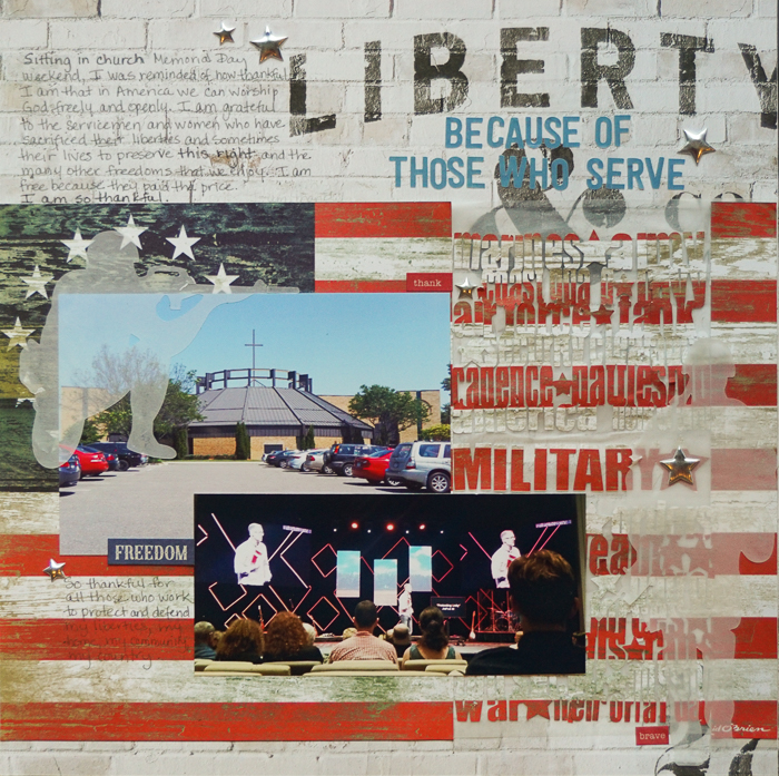 Scrapbook Ideas for Paying Tribute to Men and Women Who Serve | Marcia Fortunato | Get It Scrapped