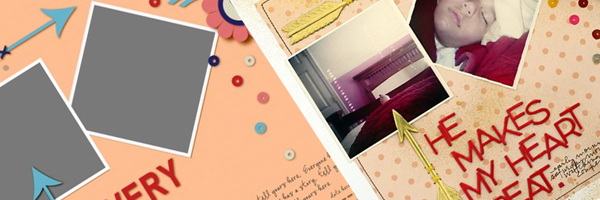 Scrapbook Page Sketch and Template #113