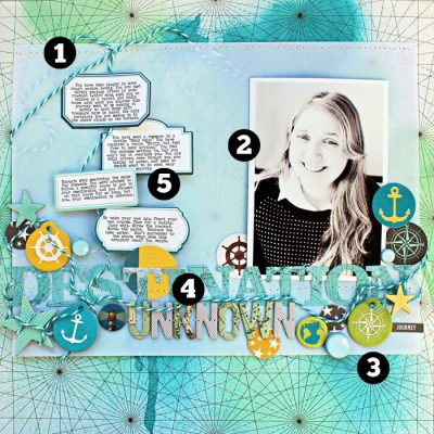 5 Liftable Scrapbook Page Ideas from 1 Layout by Jill Sprott | Get It Scrapped