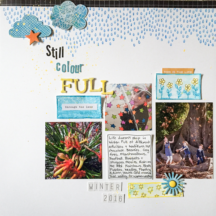 Ideas for Creating Hand-Drawn and Hand-Painted Patterns to Use on Your Scrapbook Pages | Kristy T. | Get It Scrapped