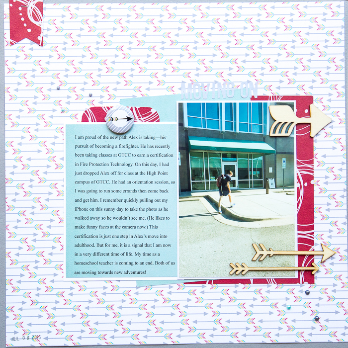 Ideas for Scrapbook Page Storytelling with the Arrow Motif | Kelly Sroka | Get It Scrapped