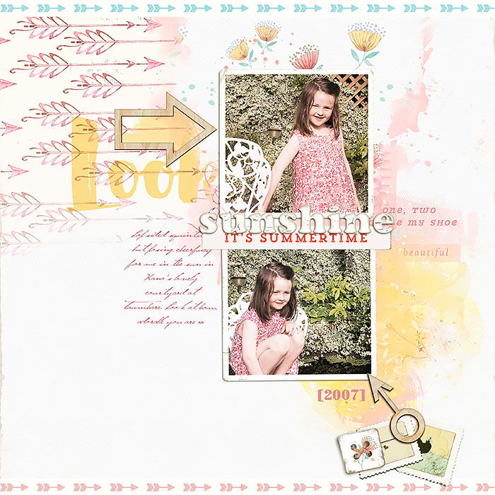 Ideas for Scrapbook Page Storytelling with the Arrow Motif | Lynn Grieveson | Get It Scrapped