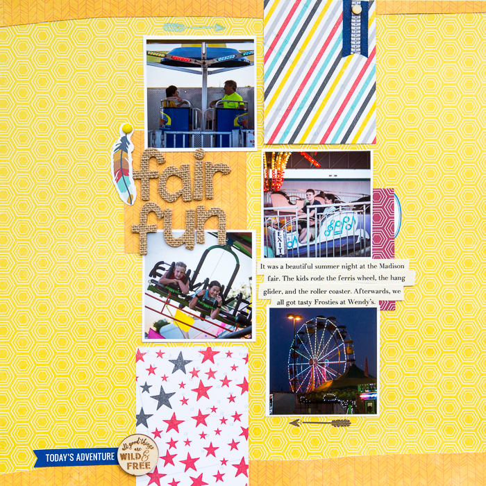 Scrapbook Page Sketch and Template #114   Kelly Sroka   Get It Scrapped