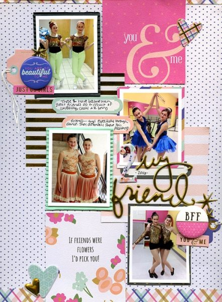 Scrapbook Page Sketch and Template #114   Nicole Mackin   Get It Scrapped
