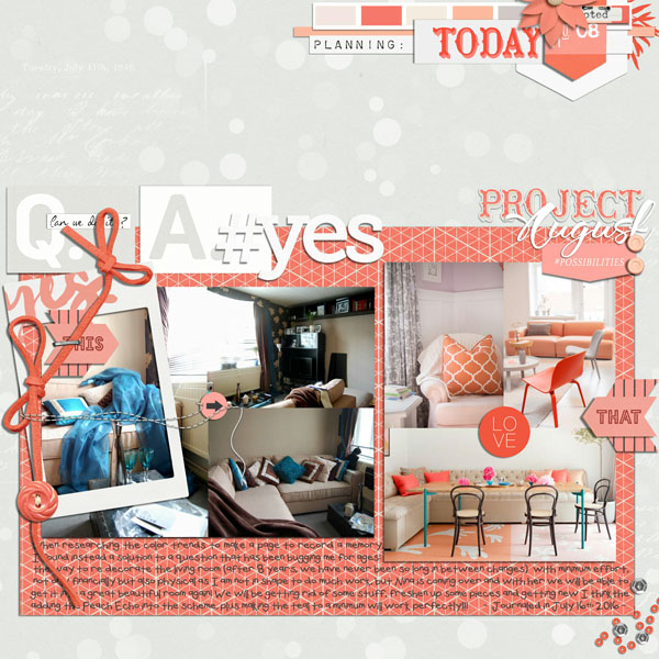 Ideas for Using Trendy Color Combos in Your Scrapbook Pages | Cynthia T. | Get It Scrapped