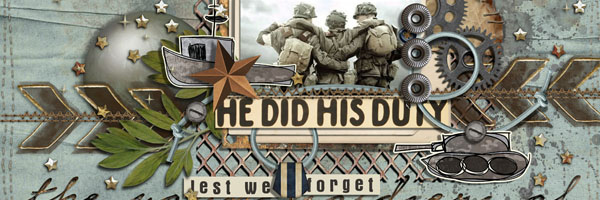 Scrapbook Ideas for Paying Tribute to Men and Women Who Serve