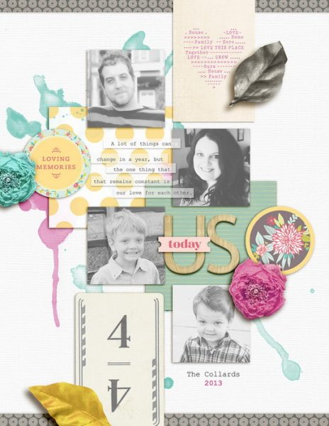 Scrapbook Page Sketch and Template #114   Amy Kingsford   Get It Scrapped