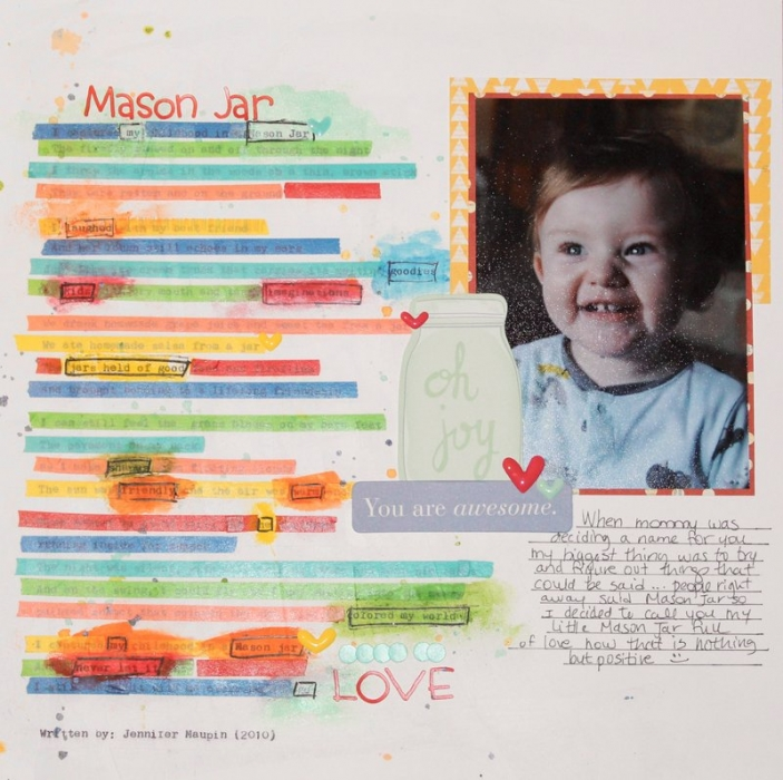 Scrapbook Page Storytelling with Cross-Out Poems | Nicole Jones | Get It Scrapped