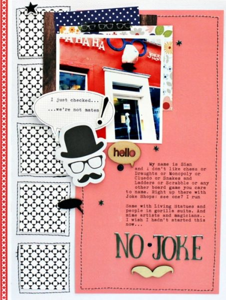 Scrapbook Page Designs Inspired by Board Games | Sian Fair | Get It Scrapped