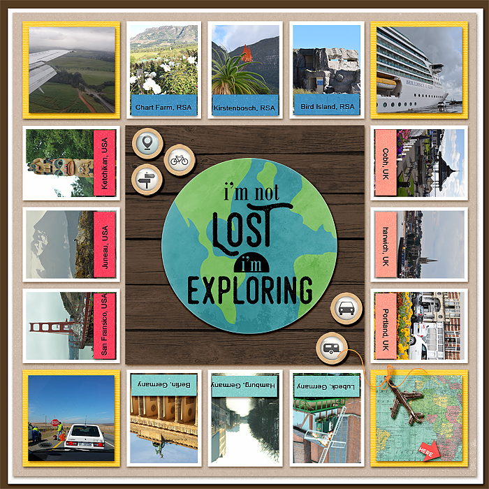 Scrapbook Page Designs Inspired by Board Games | Stefanie Semple | Get It Scrapped