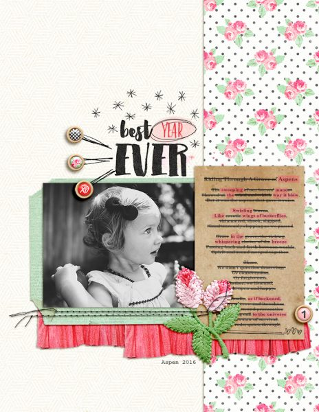 Scrapbook Page Storytelling with Cross-Out Poems | Amy Kingsford | Get It Scrapped