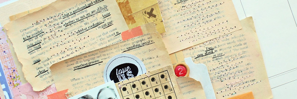 Scrapbook Page Storytelling with Cross-Out Poems