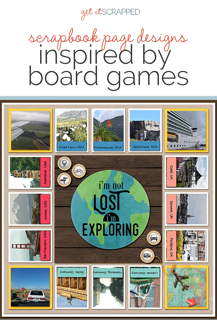 Scrapbook Page Designs Inspired by Board Games | Get It Scrapped